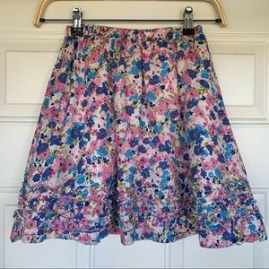 •LL Bean• Girls Floral Cotton Full Skirt - Size 12